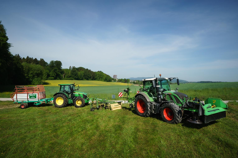 Erntemaschinen Grünflächen